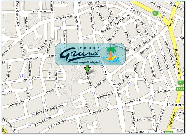 debrecen térkép utcakeresővel Grandtours.hu Kapcsolat debrecen térkép utcakeresővel