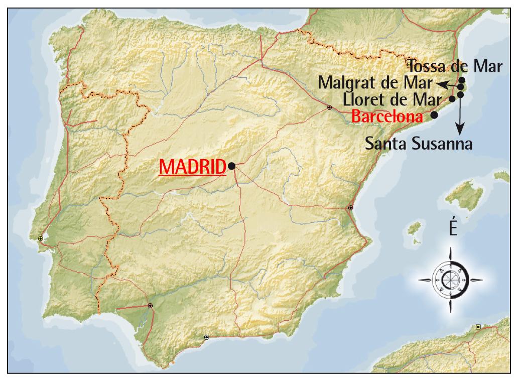costa brava térkép Grandtours.hu   Spanyolország costa brava térkép